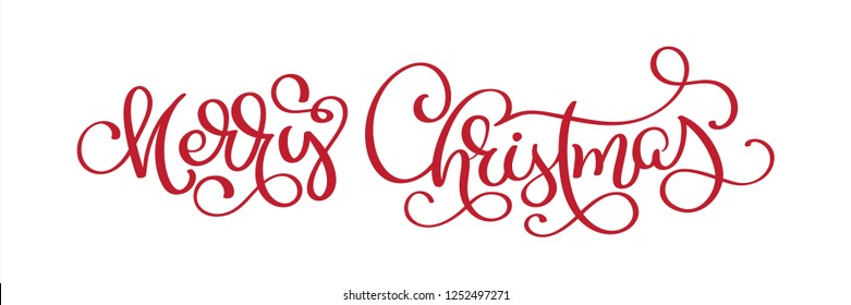 Hand lettering Merry Christmas  text, Calligraphic Lettering template, Creative typography for Holiday Greeting Gift Card. Calligraphy Font .