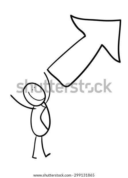 hand line drawing cartoon stick figure stock illustration 299131865 https www shutterstock com image illustration hand line drawing cartoon stick figure 299131865