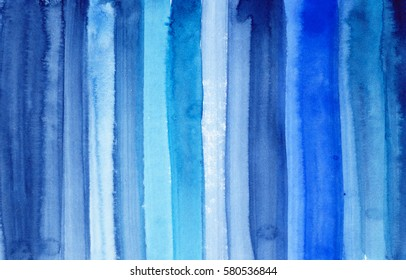 hand made abstract watercolor texture in blue colors, artistic background for trendy design