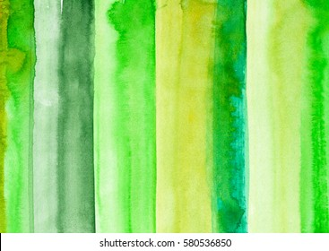 hand made abstract watercolor texture in green colors, artistic background for trendy design