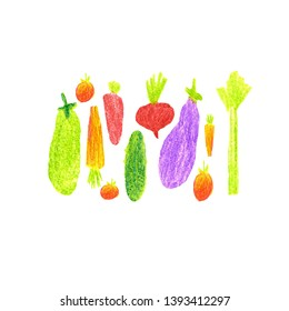 hand made drawing sammer vegetables