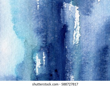 hand made shabby abstract background with watercolor artistic wash texture
