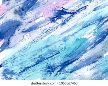 hand made shabby watercolor abstract wash texture / artistic painted background for stylish trendy design