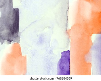 hand made watercolor color block texture / abstract artistic painted background