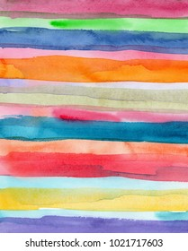 hand made watercolor stripes texture / abstract artistic painted background