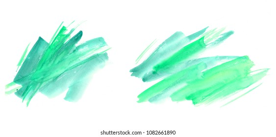 hand made watercolor wash texture / abstract artistic painted stain isolated on white background