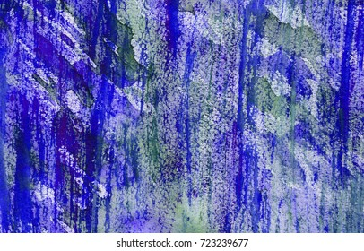 hand made watercolor wash texture, abstract artistic painted background for trendy design in blue color