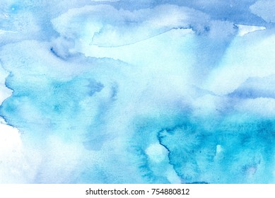 hand made watercolor wash texture / abstract artistic painted background for trendy design
