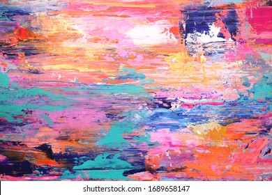 Hand painted abstract background, many bright colors