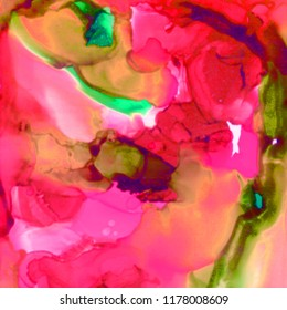 Hand painted alcohol ink texture. Abstract background. Fluid art.