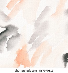 Hand painted background. Abstract painting. Watercolor wash texture.