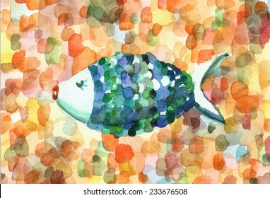 A hand painted christmas fish