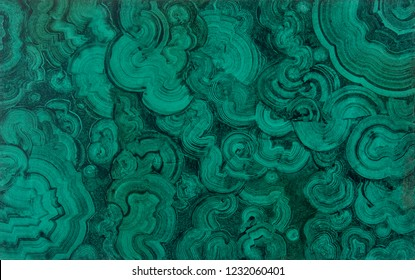 Hand painted plate with illusion painting, trompe l'oeil, with imitation of cut green turquoise blue malachite gemstone, as abstract textured background