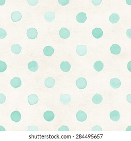 Hand painted seamless watercolor pattern on subtle paper texture