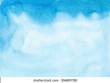 Hand painted watercolor background. Watercolor wash. Abstract painting.
