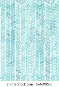 Hand painted watercolor knit alike geometric allover seamless pattern on white background