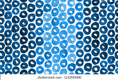 Hand painted watercolor seamless pattern with indigo blue loops. Abstract modern background, illustration. Perfect for fabric, textile, wallpaper, wrapping paper, stationery, prints, and scrapbooking.