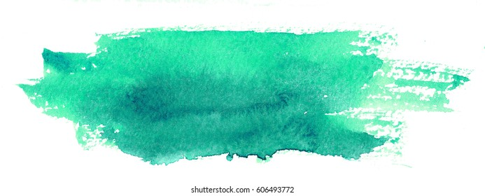 hand painted watercolor stain, abstract artistic element isolated on white