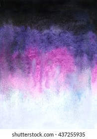 Hand painted watercolor texture in purple, pink, violet colors with ombre effect.