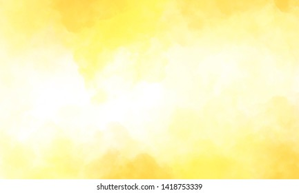 Hand painted yellow abstract watercolor canvas textured background