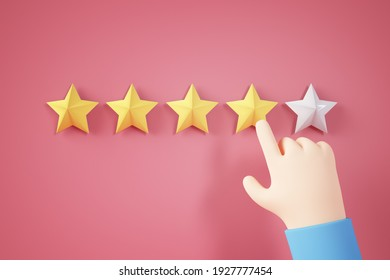 hand rating a experience concept 3d rendering