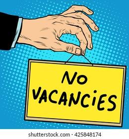 Hand sign no vacancies