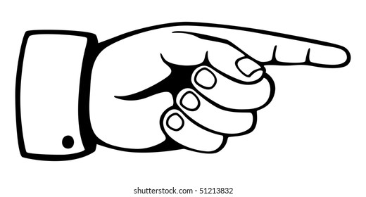 Hand sign with pointing finger. Vector version also available in my portfolio.