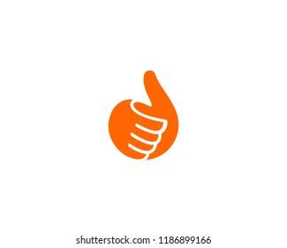 Hand, thumbs up logo. Like, fingers logotype.