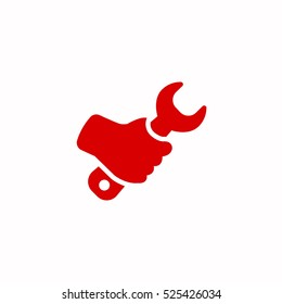 hand wrench icon, on white background