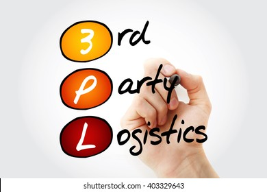 Hand writing 3PL - 3rd Party Logistics with marker, acronym business concept