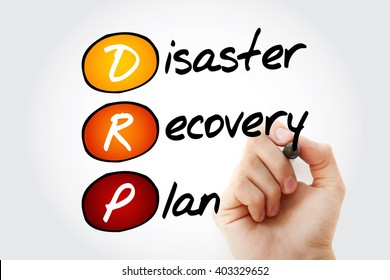 Hand writing DRP - Disaster Recovery Plan with marker, acronym business concept