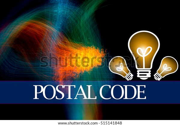 Hand Writing Postal Code Abstract Background Stock Illustration 515141848
