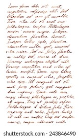Hand written letter - latin text Lorem ipsum