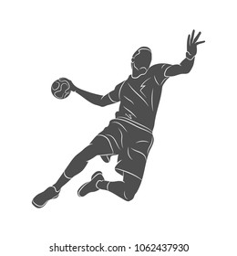 handball player abstract