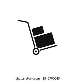 handcart icon and illustration icon