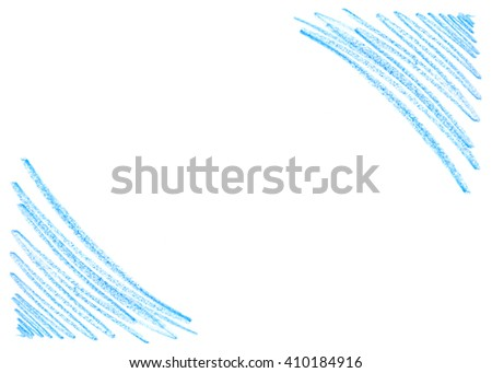 handdrawn crayon scribble background blue colors stock illustration