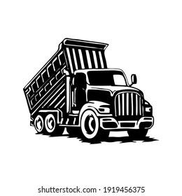 Handdrawn Truck Sillhouette Black And White