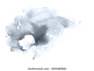 Hand-drawn watercolor abstract background.  Blueberry color.