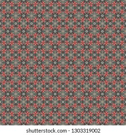 Hand-drawn wildflowers. Seamless floral wallpaper in pink, gray and brown colors. Seamless pattern can be used for web page background, surface textures and fabrics.