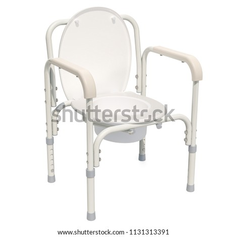 Handicap Portable Toilet Chair. 3D rendering isolated on white background  sc 1 st  Shutterstock & Handicap Portable Toilet Chair 3 D Rendering Stock Illustration ...