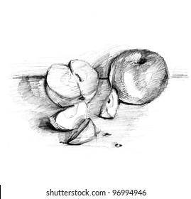 Still Life Pencil Sketch Images Stock Photos Vectors Shutterstock