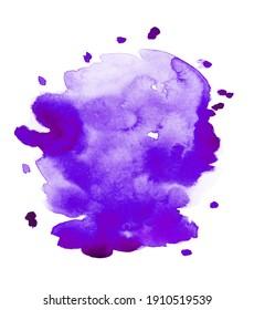 Handmade illustration of purple watercolor