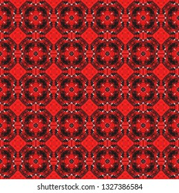 Handmade and reworked boho seamless pattern. Inspired by traditional Indian themes. Boho seamless pattern for use in web and digital design, craftworks and fashion products.