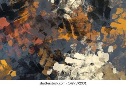 Handgefertigte surreale abstrakte Muster. Moderne künstlerische Leinenmatrix. 2. Abbildung. Textur einzigartige Hintergrund-Malermix-Form. Kreatives Chaos strukturiert Elemente Material Erstellung Bitmap-Figuren. Acryl