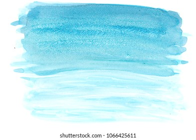 handmade turquoise watercolor background