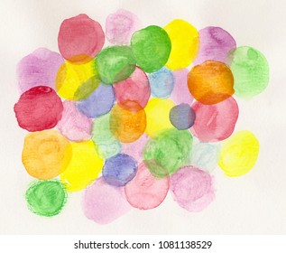 handmade watercolor colorful background
