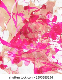 Hand-painted  abstract background with paint splashes. Design for background, banner, flaer,poster,brochure etc.