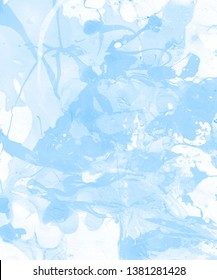 Hand-painted light blue abstract background. Design for background, banner, flaer,poster,brochure etc.