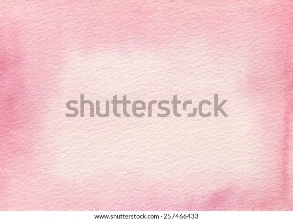 Hand-painted light pink watercolor on rough-textured paper.