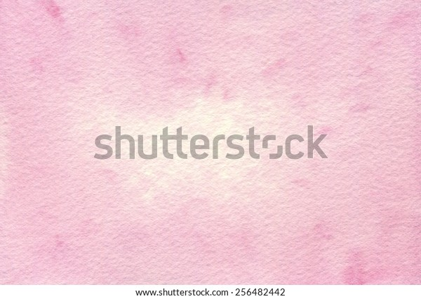 Hand-painted watercolor abstract pink background on rough-textured watercolor paper.